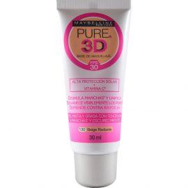 Maybelline Base de Maquillaje Líquida Pure 3D