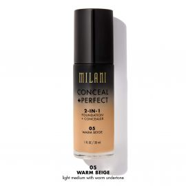 Milani Base de Maquillaje 2 in 1 Foundation+Concealer